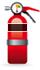 Black labelled Extinguisher