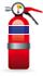 Blue Labelled Extinguisher