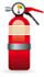 Cream Labelled Extinguisher
